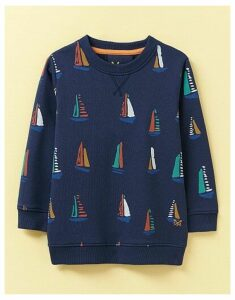Crew Clothing Crew Neck Boat Print Sweatshirt