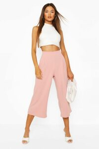 Womens Pleat Front Culotte - Pink - 14, Pink