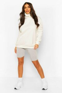 Womens Hoodie With Snood - White - 16, White