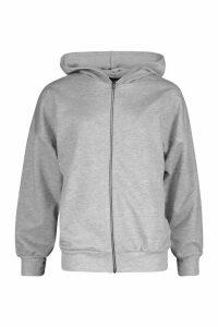 Womens Fit Zip Through Gym Hoodie - Grey - 14, Grey