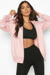 Womens Fit Zip Through Gym Hoodie - Pink - 16, Pink