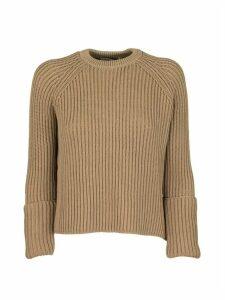 Max Mara Cotton Jumper Bugia Camel Sweaters