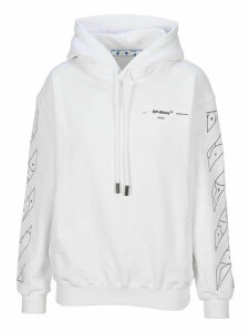 Off White Puzzle Harrow Printed Hoodie