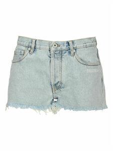 Off White Bleach Shorts