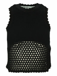 Off White Fishnet Rowing Top