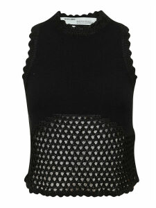 Off-White Knit Fishnet Rowing Top