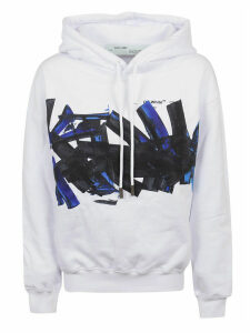 Off-White Blue Brush Oversize Hoodie