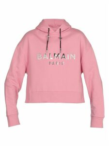 Balmain Cropped Cotton Sweatshirt