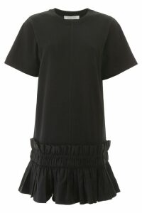 See by Chloé Mini Dress With Shirred Flounce