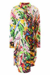 Marni Floral Print Long Oversized Shirt