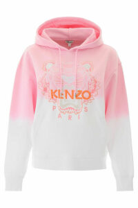 Kenzo Dip Dyed Hoodie With Tiger Embroidery