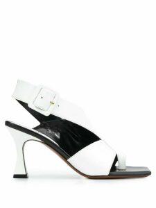 Manu Atelier cut-out sling back sandals - White