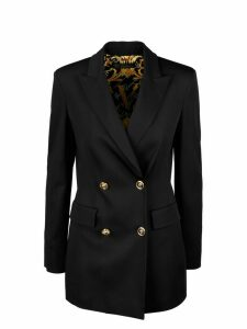 Versace Double Breasted Blazer With Medusa Buttons