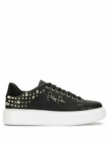Philipp Plein stud embellished platform sole sneakers - Black