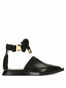Sacai pointed toe sandals - Black
