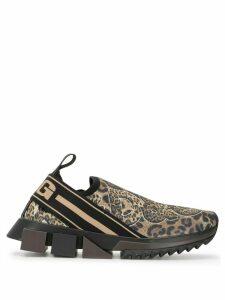 Dolce & Gabbana Sorrento leopard-print sneakers - Brown