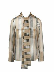 Burberry Striped Chiffon Shirt