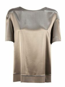 Fabiana Filippi Bronze Silk Satin Top