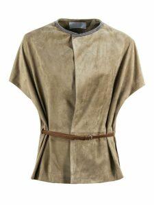 Fabiana Filippi Suede Leather Jacket