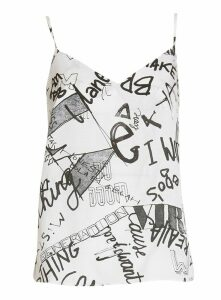 Essentiel Antwerp Graffiti-print Top