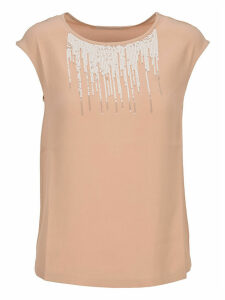 Fabiana Filippi Sequins Embroidery Top