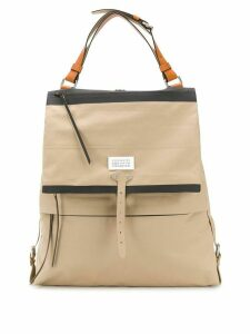 Maison Margiela large shoulder bag - NEUTRALS