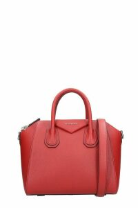 Givenchy Antigona Small Hand Bag In Red Leather