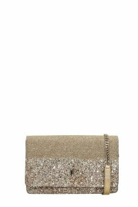 Jimmy Choo Paiace Shoulder Bag In Gold Leather