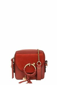 See by Chloé Joan Small Shoulder Bag In Bordeaux Suede And Leather