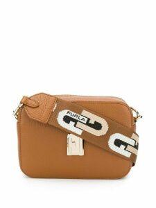 Furla logo shoulder bag - Brown