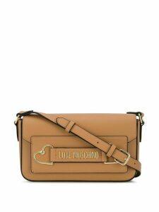 Love Moschino heart detail crossbody bag - NEUTRALS