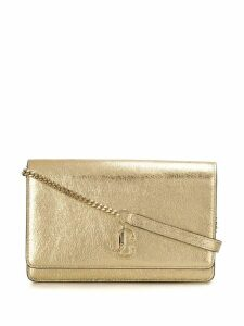 Jimmy Choo Varenne metallic clutch bag - GOLD