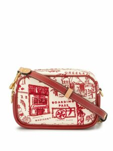 Tory Burch Perry map-print canvas camera bag - Red