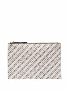 Givenchy logo-print leather pouch. - PINK