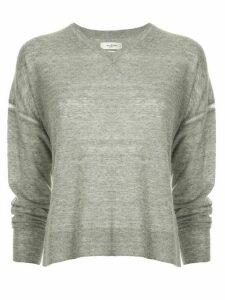 Isabel Marant Étoile side slit V-neck sweater - Grey