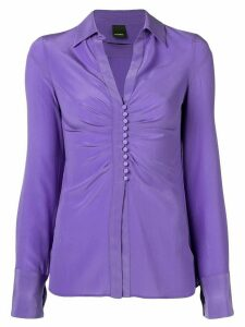 Pinko drapped button blouse - PURPLE