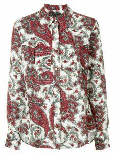 Isabel Marant paisley print western shirt - White