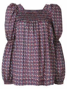 La Doublej geometric print blouse - Blue