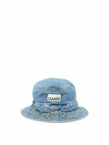 Ganni - Washed-denim Bucket Hat - Womens - Indigo