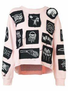 Haculla Stabat it patch sweatshirt - PINK