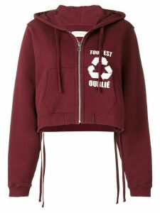 Faith Connexion cropped zipped hoodie - Red