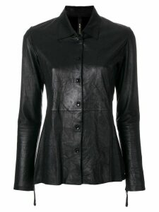 Olsthoorn Vanderwilt shirt leather jacket - Black