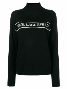 Karl Lagerfeld mock neck logo jumper - Black