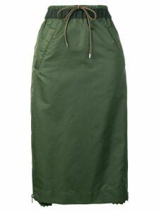 Sacai elasticated waist skirt - Green