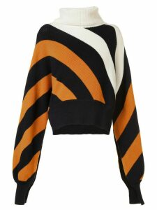 Monse striped turtleneck jumper - Yellow