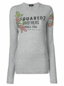 Dsquared2 floral logo printed top - Grey