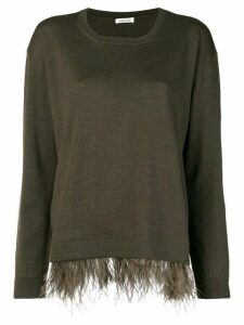 P.A.R.O.S.H. feather hem sweater - Green