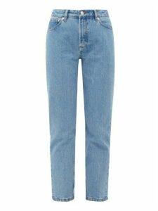 A.P.C. - Straight-leg Stonewashed Jeans - Womens - Light Denim