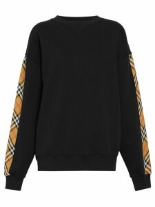 Burberry Vintage Check Detail Sweatshirt - Black