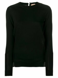 Nº21 long-sleeve fitted sweater - Black